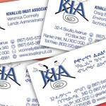KIA business card